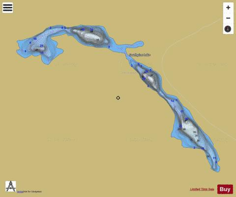 Southpine Lake Fishing Map - i-Boating App