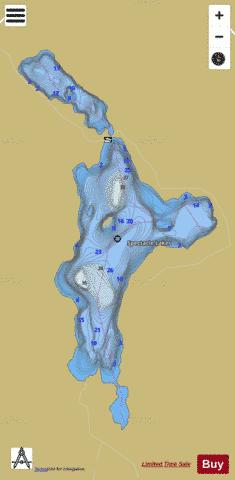 Spectacle Lakes Fishing Map - i-Boating App