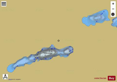 Tenho Lake Fishing Map - i-Boating App