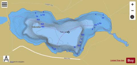 Twin Lakes / Hilton Lake Fishing Map - i-Boating App