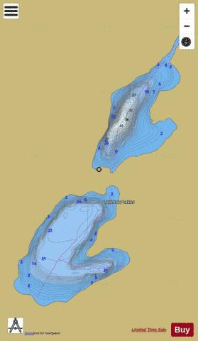 Twintoor Lakes Fishing Map - i-Boating App
