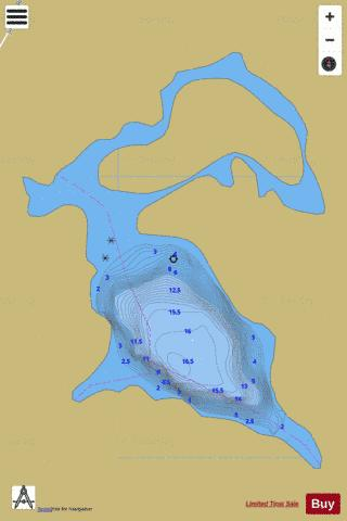 Unnamed Lake North Kawartha Fishing Map - i-Boating App