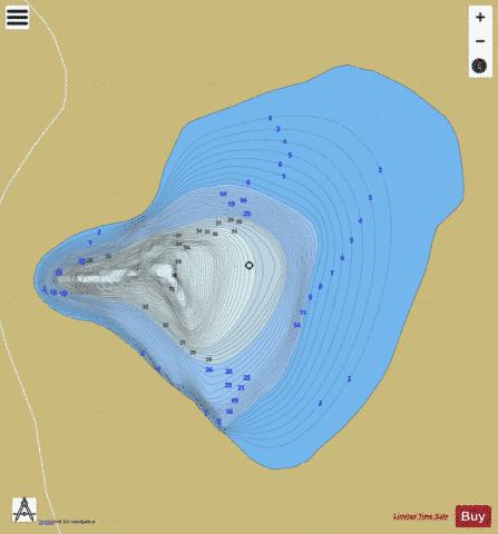 Verte Lake Duff Fishing Map - i-Boating App