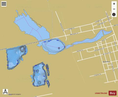 Waterford Ponds Fishing Map - i-Boating App