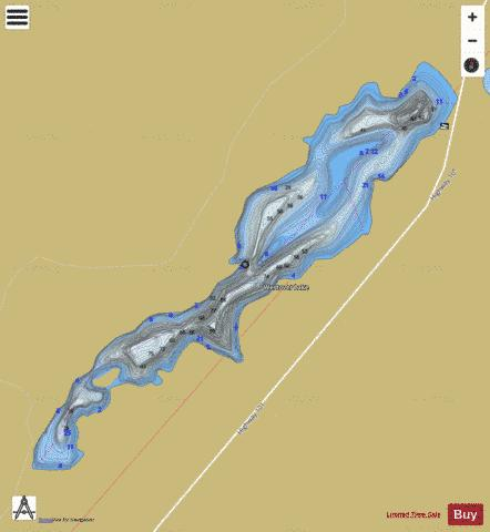 Westover Lake Fishing Map - i-Boating App