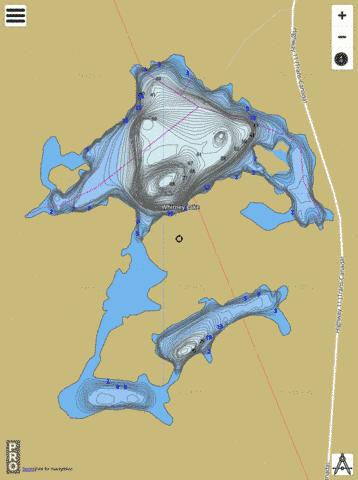 Whitney Lake Fishing Map - i-Boating App