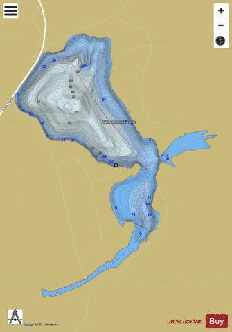 Wilbermere Lake Fishing Map - i-Boating App