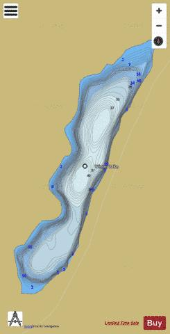 Winter Lake Fishing Map - i-Boating App