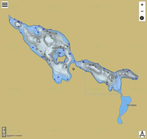 Lac de l Aigle Fishing Map - i-Boating App