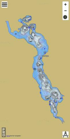 Lac Pope Fishing Map - i-Boating App