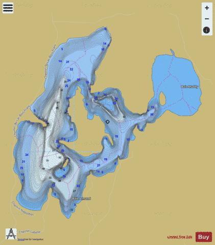 Bois Franc Lac Fishing Map - i-Boating App