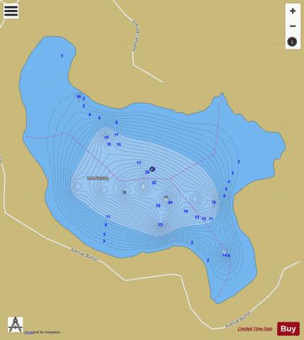 Burton Lac Fishing Map - i-Boating App