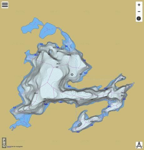 Buteux Lac Fishing Map - i-Boating App