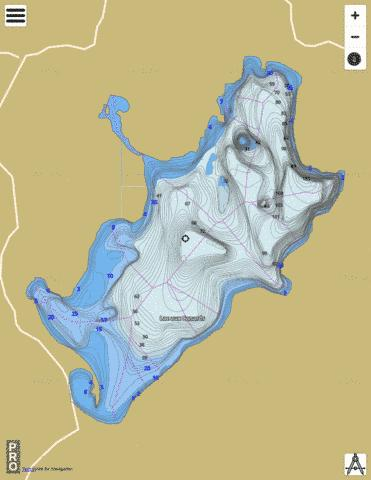 Lac Aux Canards Fishing Map - i-Boating App
