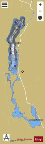 Chantier Lac Fishing Map - i-Boating App