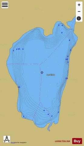 Clabo Lac Fishing Map - i-Boating App