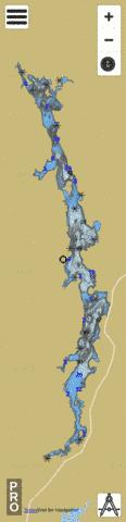 Commissaires Lac Des Fishing Map - i-Boating App