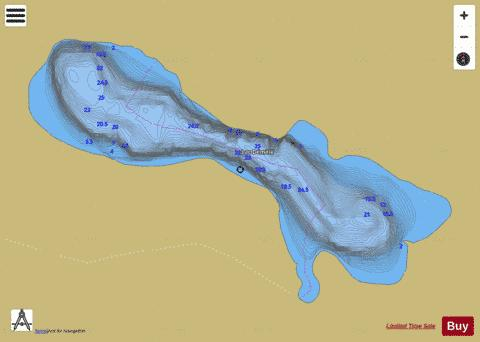 Demele Lac Fishing Map - i-Boating App