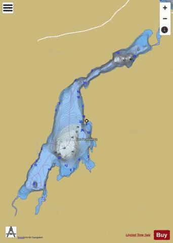 Desrivieres Lac Fishing Map - i-Boating App