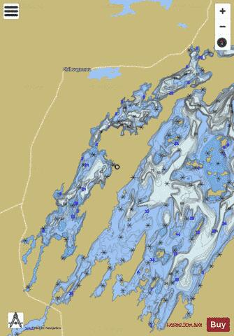 Dores Lac Aux Fishing Map - i-Boating App