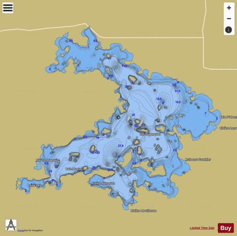 Duparquet Lac Fishing Map - i-Boating App