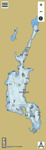 Gagnon Lac Fishing Map - i-Boating App