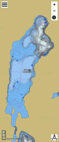 Grand Lac MacDonald Fishing Map - i-Boating App