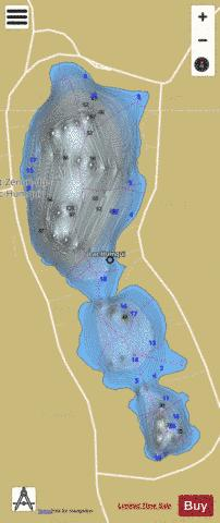 Humqui Lac Fishing Map - i-Boating App