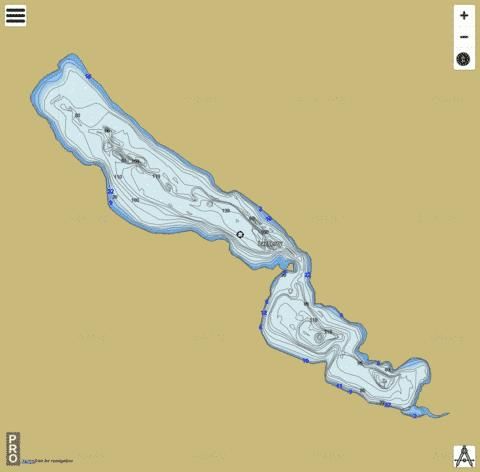 Lac Meruimticook / Jerry Fishing Map - i-Boating App