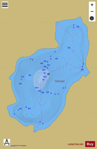 LANDRY LAC Fishing Map - i-Boating App