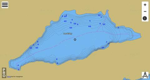 Lac Bixley Fishing Map - i-Boating App