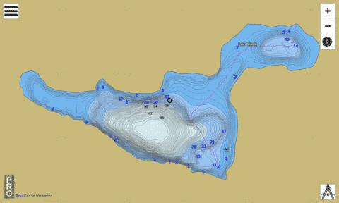 Lac Black Fishing Map - i-Boating App
