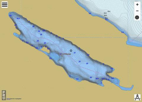 Lac Cl Ment Fishing Map - i-Boating App