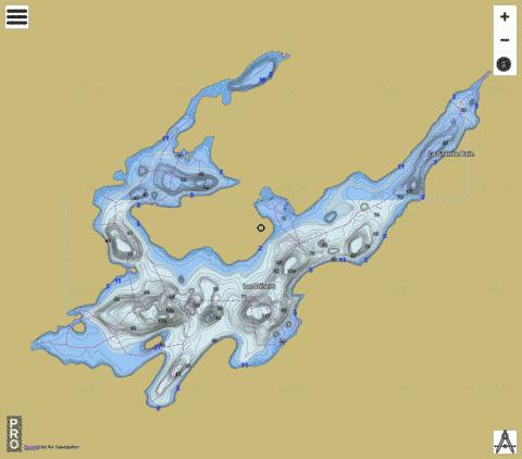 Lac D Sert Fishing Map - i-Boating App