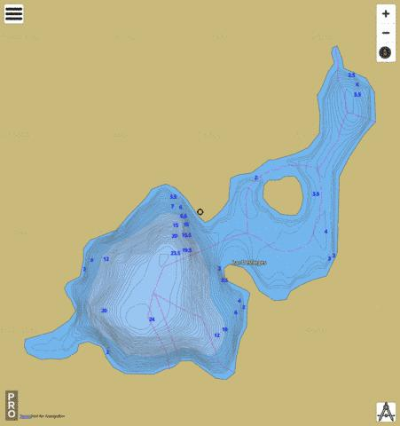 Lac Desforges Fishing Map - i-Boating App