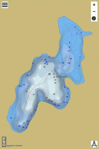 Lac Fran Ais Fishing Map - i-Boating App