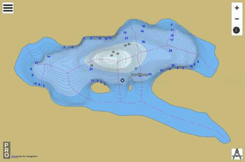 Lac G Mont Fishing Map - i-Boating App