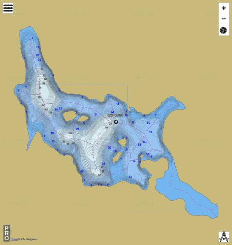 Lac Groth Fishing Map - i-Boating App