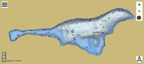 Lac Gustave Fishing Map - i-Boating App
