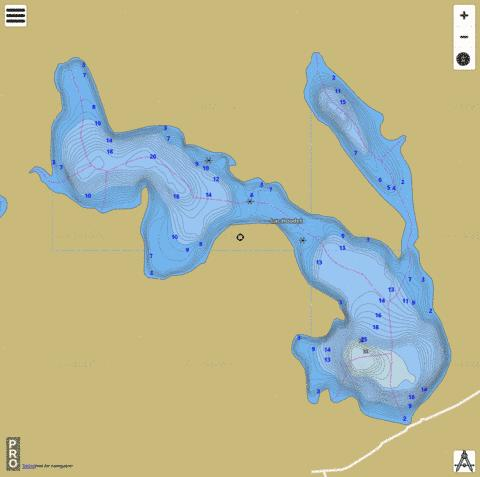 Lac Houdet Fishing Map - i-Boating App