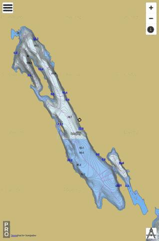 Lac Joly Fishing Map - i-Boating App