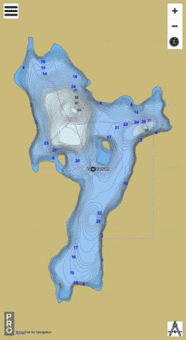 Lac Marsan Fishing Map - i-Boating App