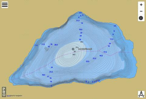 Lac Maskinong Fishing Map - i-Boating App