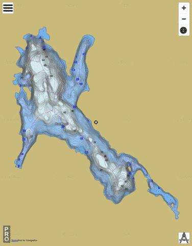 Lac Rossi Fishing Map - i-Boating App