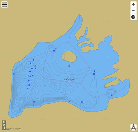 Lac Rossignol Fishing Map - i-Boating App