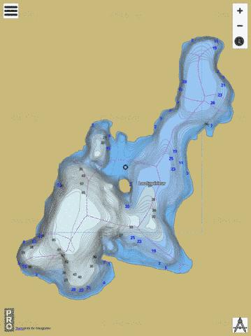 Lac Sup Rieur Fishing Map - i-Boating App