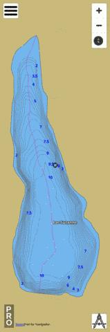 Lac Suzanne Fishing Map - i-Boating App