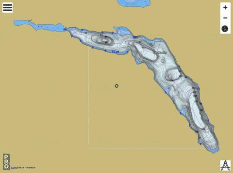 Lac Xavier Fishing Map - i-Boating App