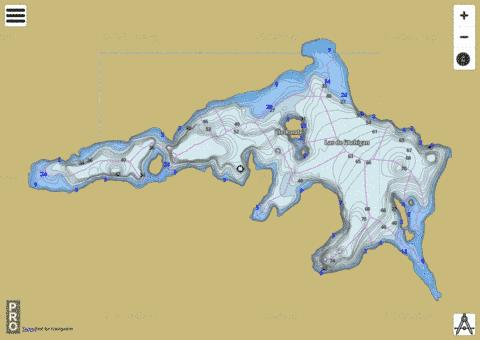 Lac De L Achigan Fishing Map - i-Boating App