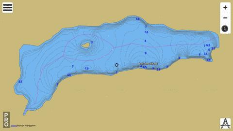 Lac Des Chats Fishing Map - i-Boating App